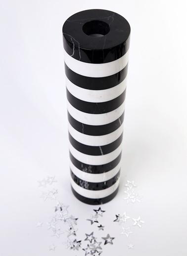 El Yapımı Mermer Silindir Vazo-3Wdesign